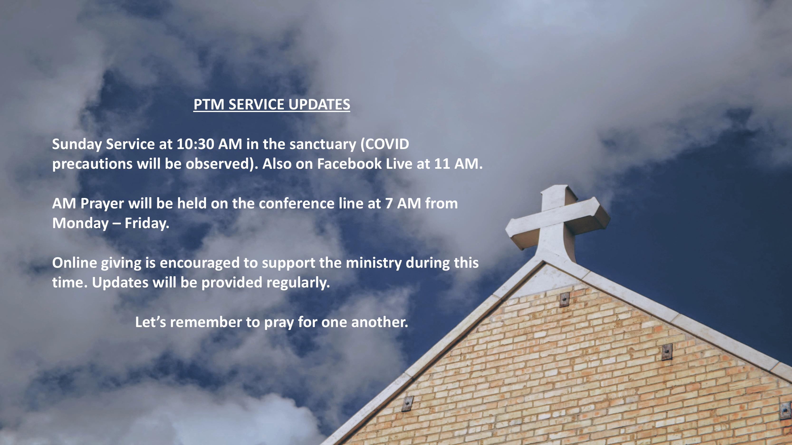Church Schedule 7-4-20